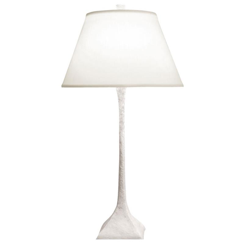 White patina finish / White linen lamp shade / Without symbols