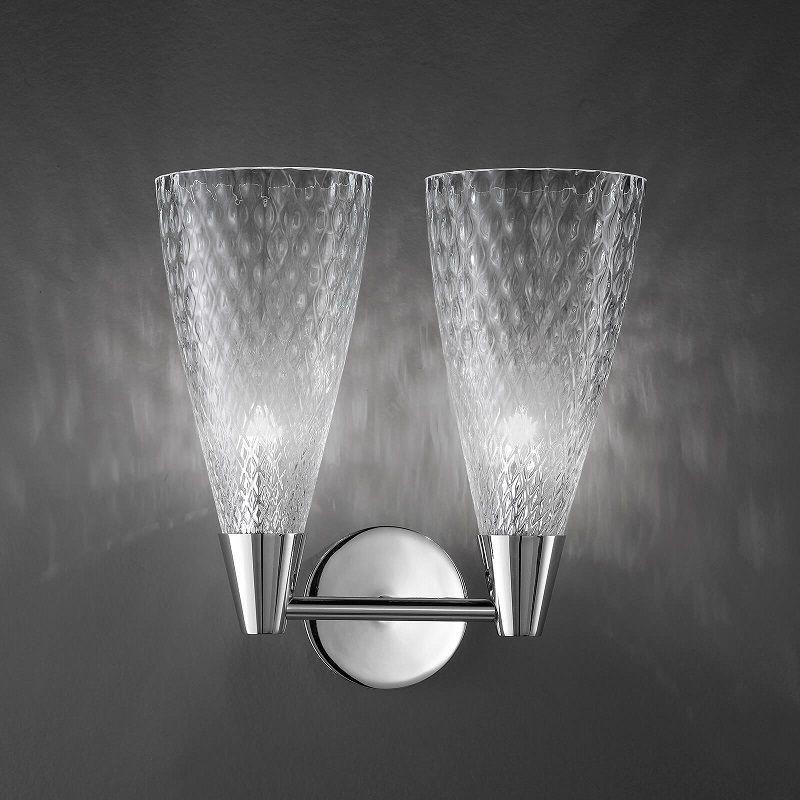 Wall lamp / Chrome finish / Transparent glass