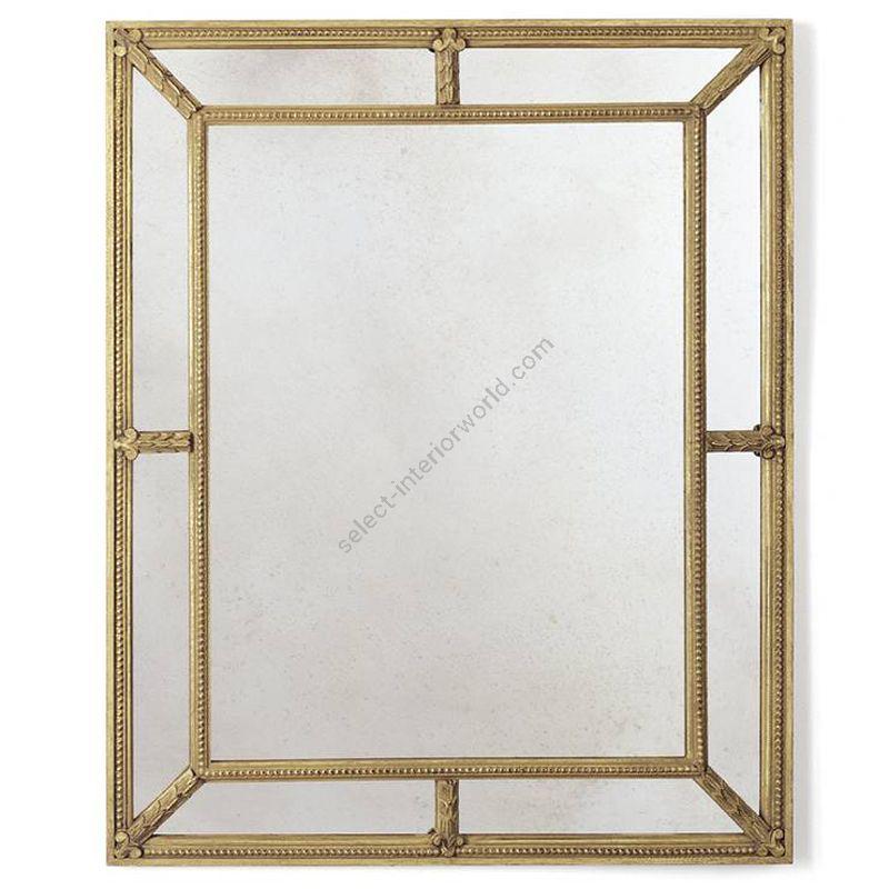 "Burnt gold finish / Antiqued mirror glass / cm.: H 107 x W 84 / inch.: H 42.12"" x W 33.07"""