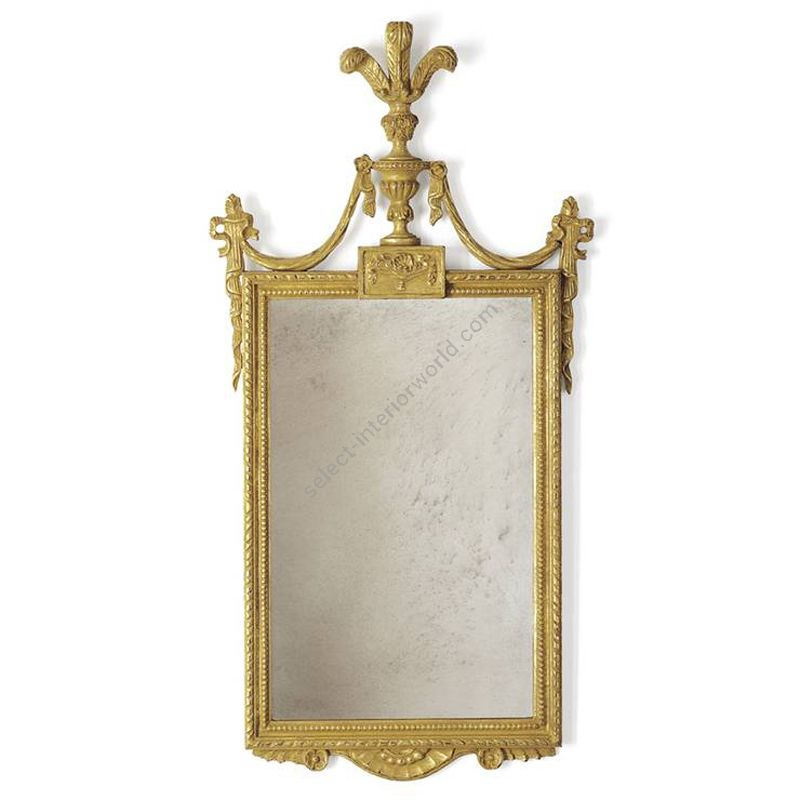 Burnt gold finish / Antiqued mirror glass