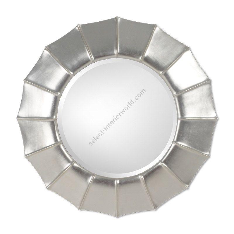 "20th C. Silver finish / Bevel glass type / cm.: 116 x 116 x 9 / inch.: 45.67"" x 45.67"" x 3.54"""