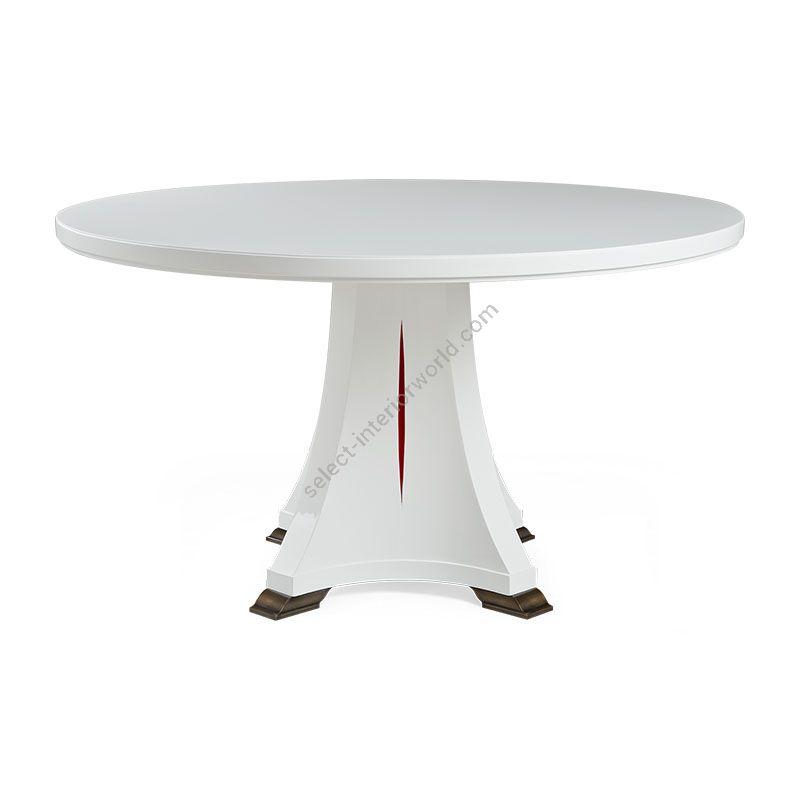 "White Lacq. / Valentino Red finish, cm.: 76 x 135 x 135 / inch.: 30"" x 53"" x 53"" size"