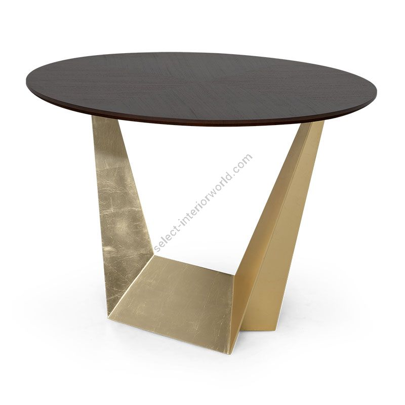 """Natural Tabac / 21st C. Gold finish, cm.: 76 x 100 x 100 / inch.: 30"""" x 39"""" x 39"""" size"""