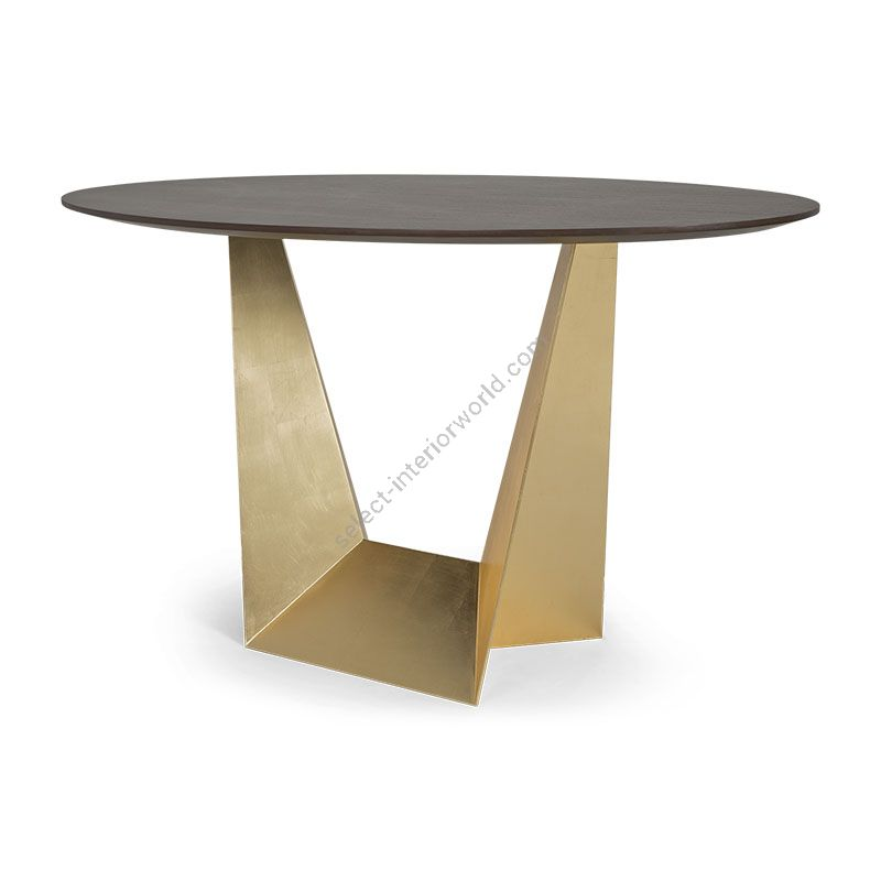 """Natural Tabac / 21st C. Gold finish, cm.: 76 x 136 x 86 / inch.: 30"""" x 54"""" x 34"""" size"""