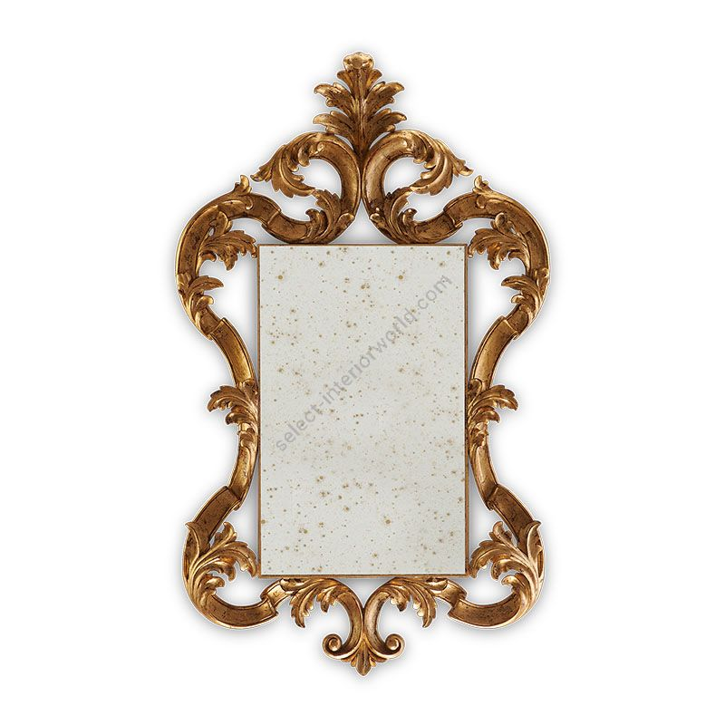 18th C. Gold finish, Antique glass type