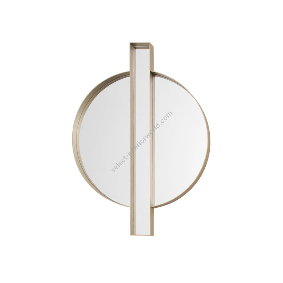 Mirror / Bronzed and satin brass frame
