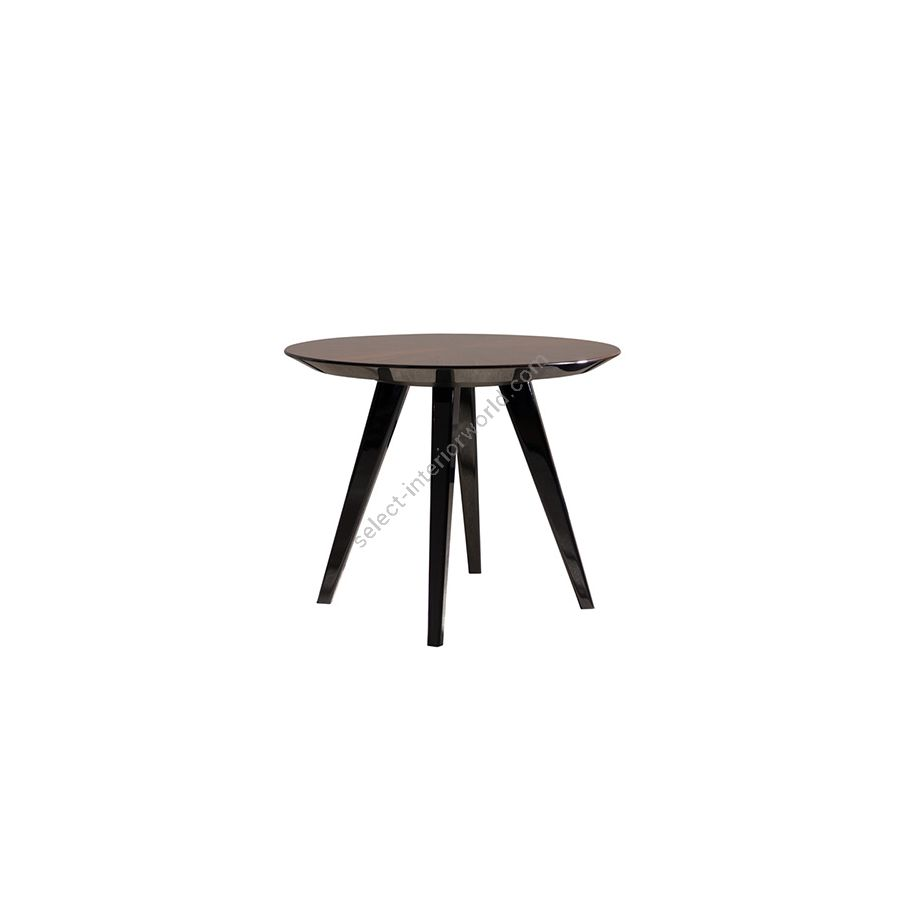 Gueridon small table / Black gloss lacquered top