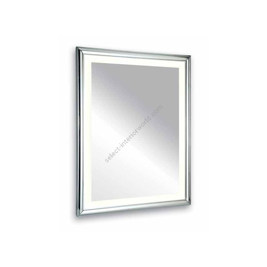Mirror with inside lighted / Chrome brass frame