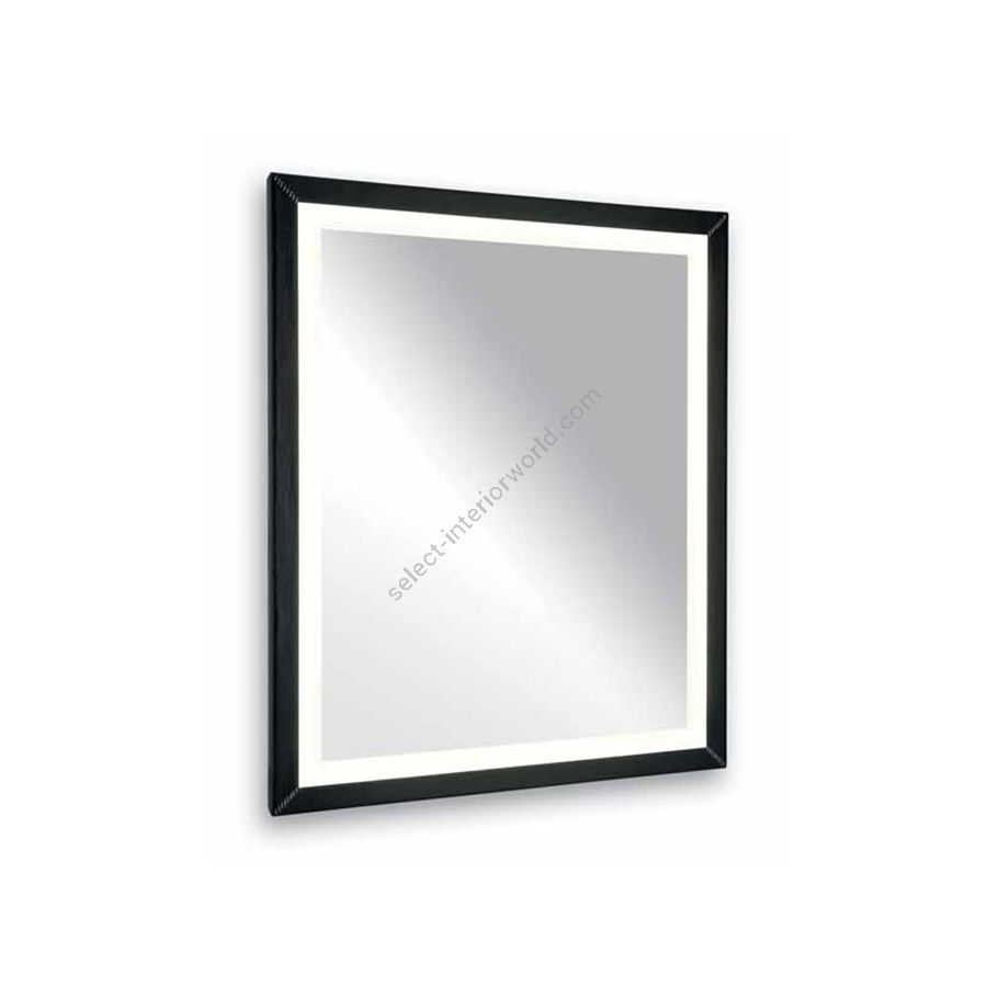 Inside lighted mirror / Frame in faux leather