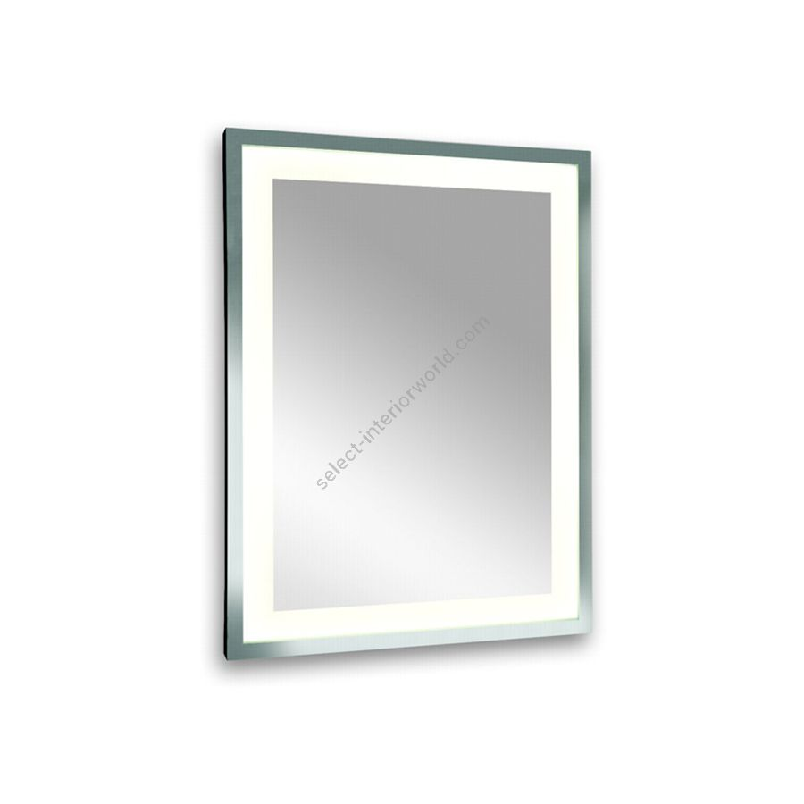 Mirror with inside lighted / Polished inox frame