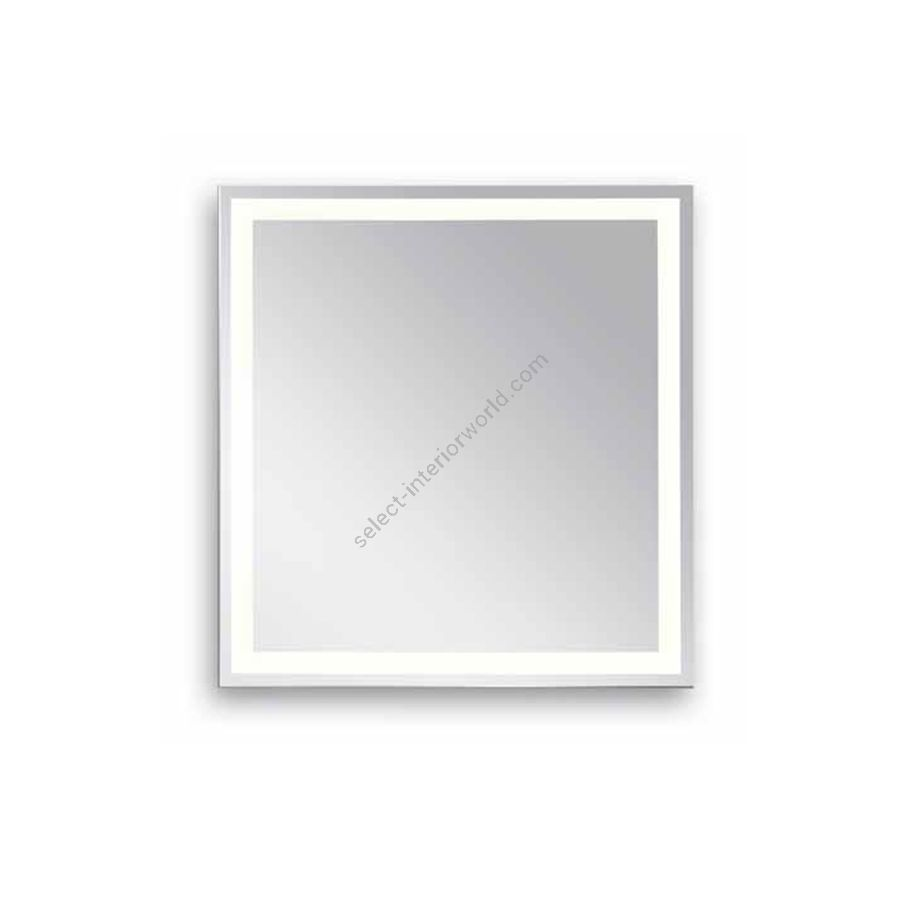 Square mirror with LED lighted