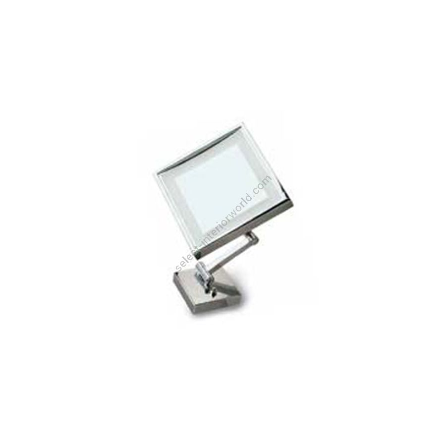 Square mirror with LED lighting / Chrome finish
