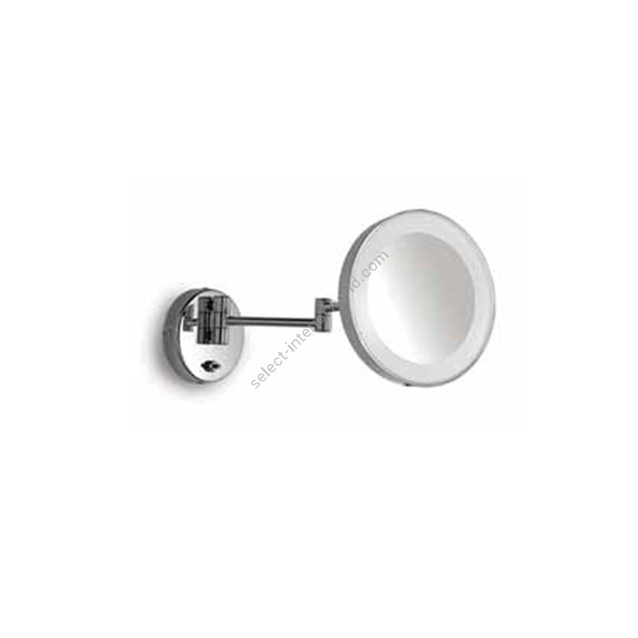 Magnifying mirror with light / Chrome finish