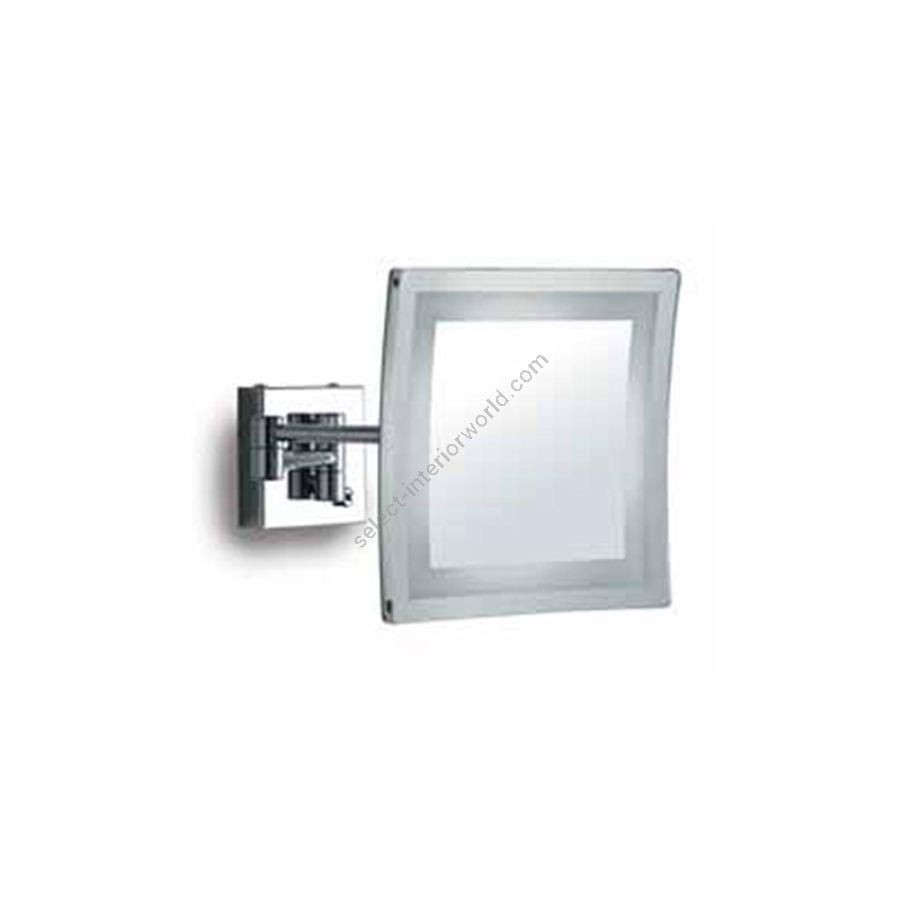Square mirror / Inside LED lighting / Chrome finish