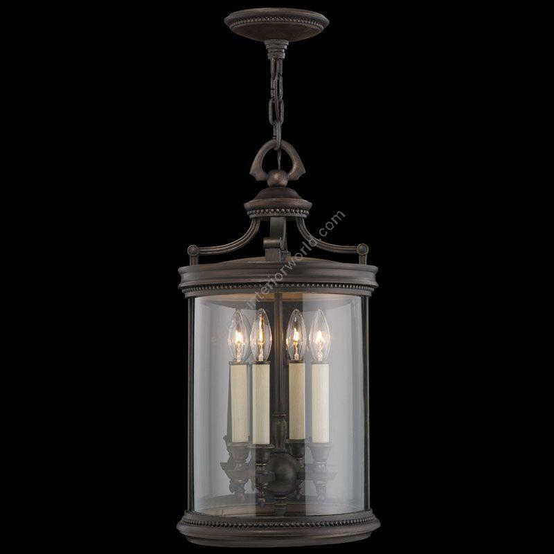 "4 lights (cm.: H 66 x W 30 / inch.: H 26"" x W 12"")"