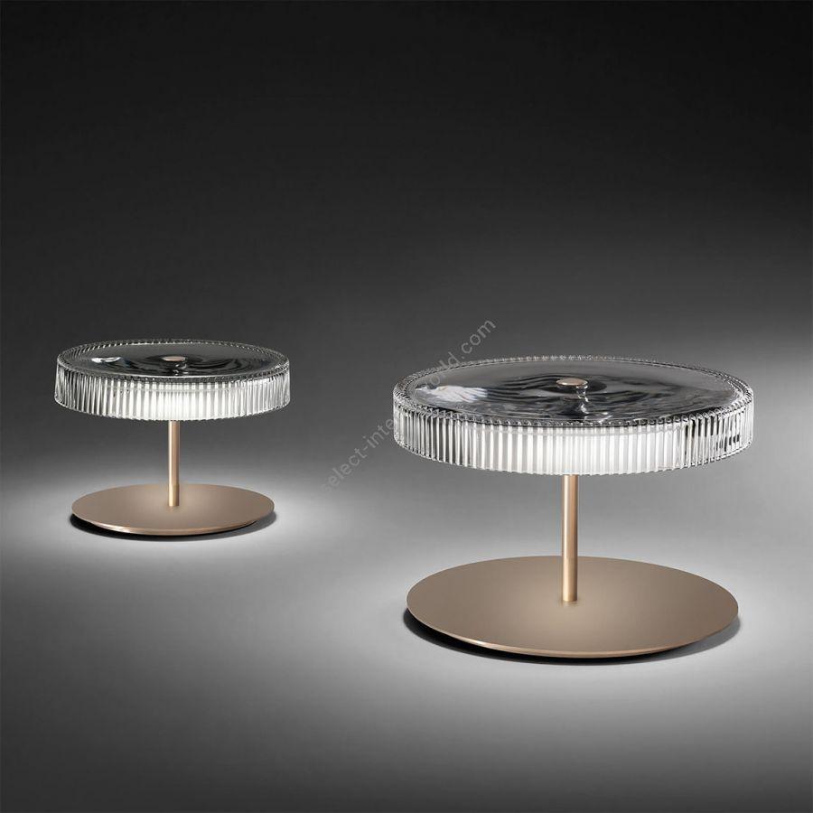 Table lamp / Matt champagne finish