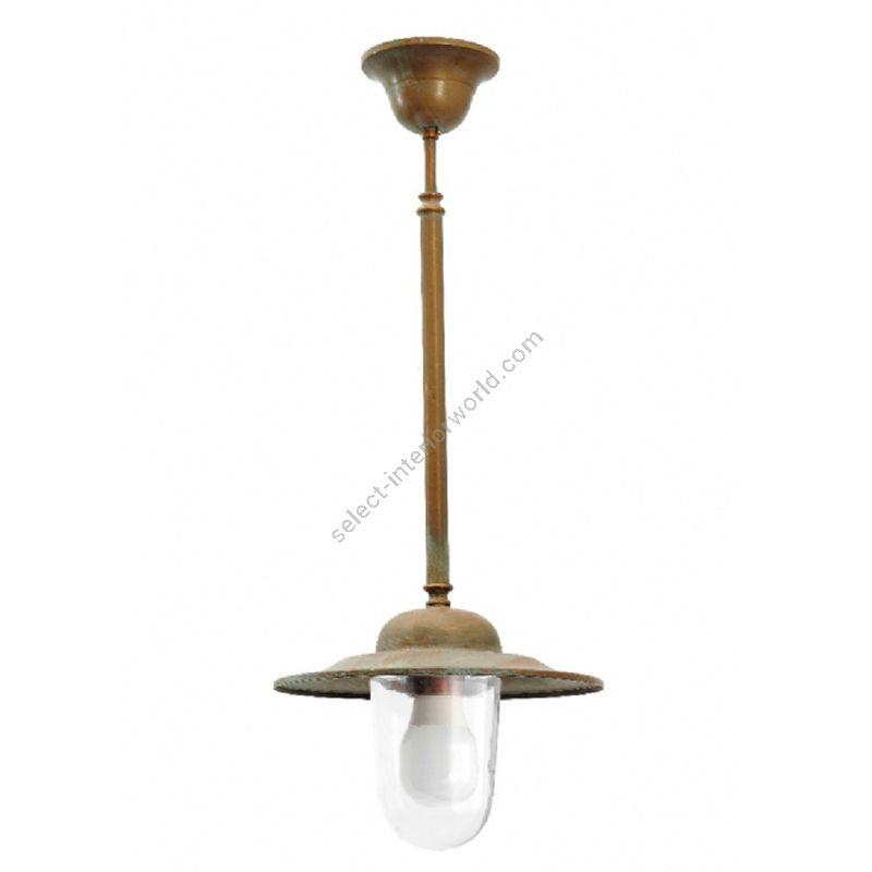 Aged brass finish / Transparent glass / Cylindrical shape
