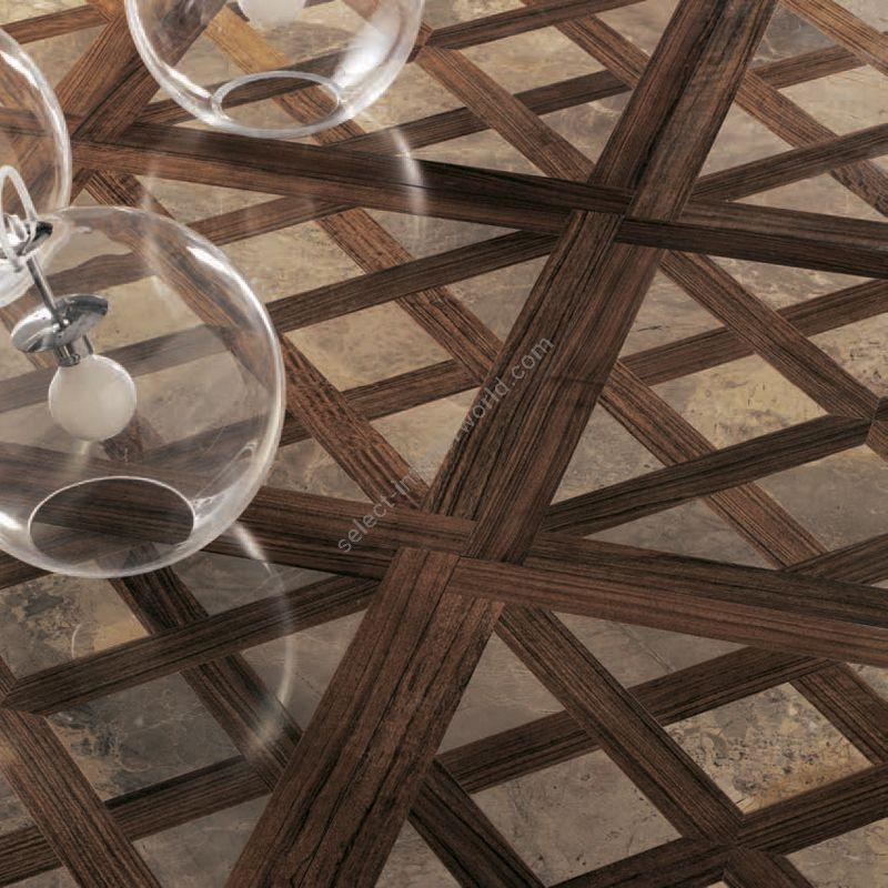 Wood Finish: Mutenya; Marble Finish: Yellow