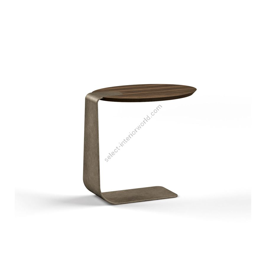 Side table / Metal base: MUNTZ METAL / Top: EUCALIPTO SMOKED WATERSILK