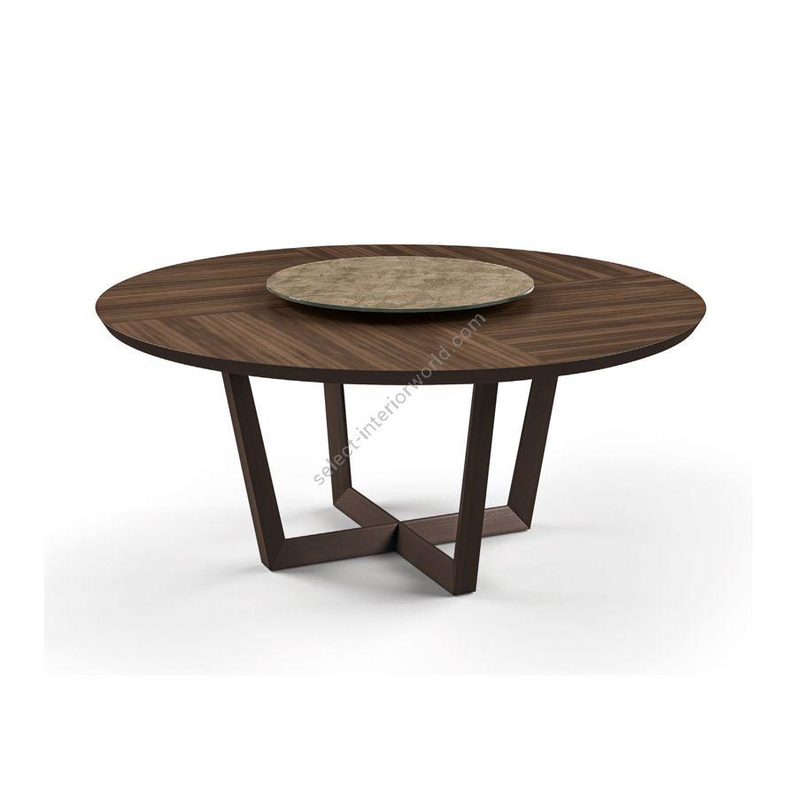 Dining table / Top: Watersilk Eucalyptus / Model: With lazy susan