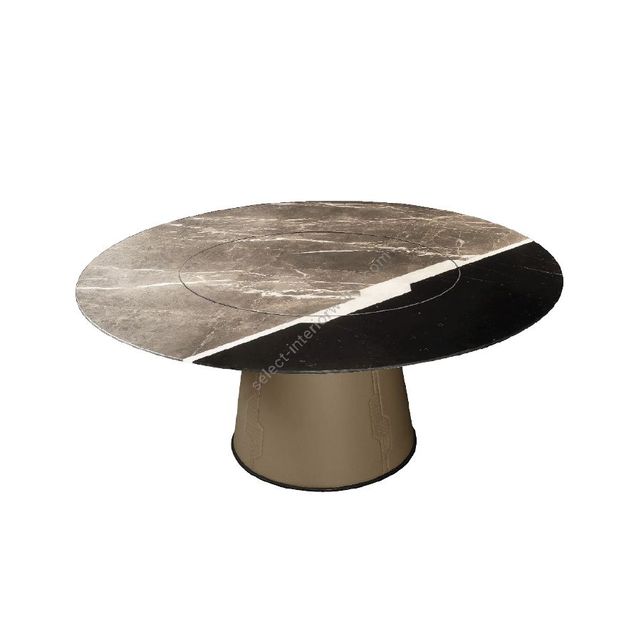 Dining table / Marble top /With integrated lazy susan
