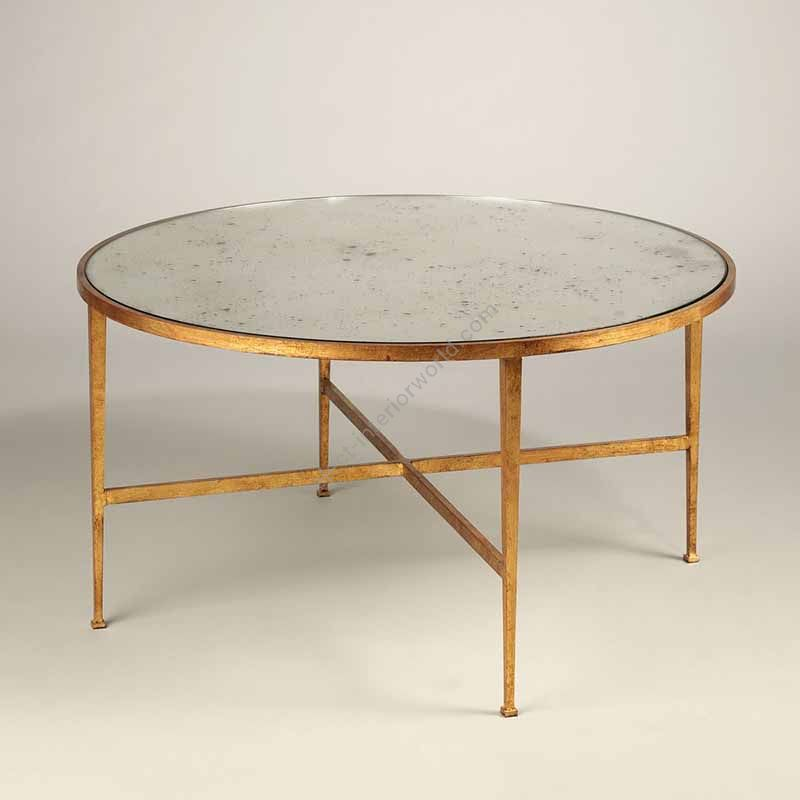 Coffee table / Gilt finish / Toughened Antiqued Mirror top