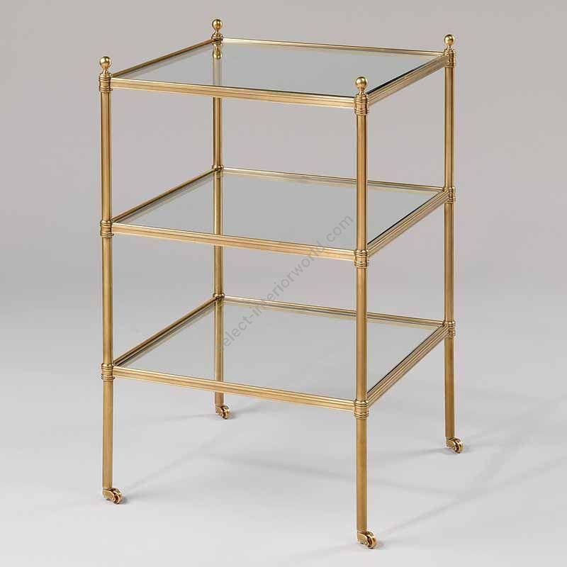 """Finish Brass, Top Glass, cm.: 71.1 x 42.5 x 42.5 / inch.: 27.95"""" x 15.53"""" x 15.53"""""""