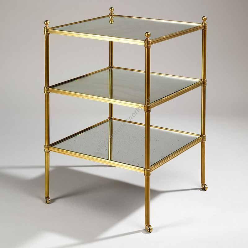 """Finish Brass, Top Mirror, cm.: 70.5 x 45.1 x 45.1 / inch.: 27.55"""" x 17.71"""" x 17.71"""""""