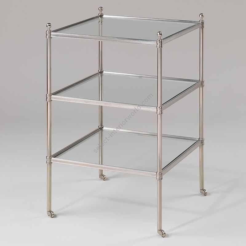 "Finish Nickel, Top Glass, cm.: 71.1 x 42.5 x 42.5 / inch.: 27.95"" x 15.53"" x 15.53"""