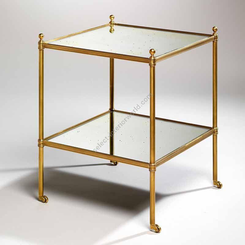 """Finish Brass, Top Mirror, cm.: 59.1 x 42.5 x 42.5 / inch.: 23.22"""" x 16.53"""" x 16.53"""""""