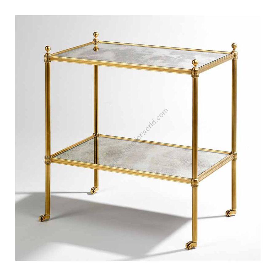 """Finish Brass, Top Mirror, cm.: 58.4 x 50.8 x 31.8 / inch.: 22.89"""" x 19.68"""" x 12.20"""""""