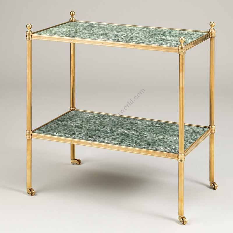 "Finish Brass, Top Shagreen, cm.: 58.4 x 50.8 x 31.8 / inch.: 22.89"" x 19.68"" x 12.20"""