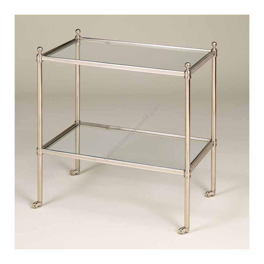 "Finish Nickel, Top Toughened Glass, cm.: 58.4 x 50.8 x 31.8 / inch.: 22.89"" x 19.68"" x 12.20"""