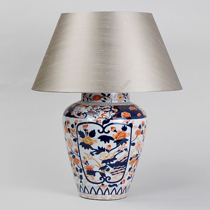 Lampshade: colour - Pale Olive ; material - Silk