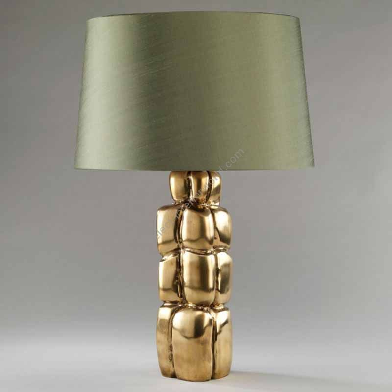 Lampshade: colour - Military Green , material - Silk