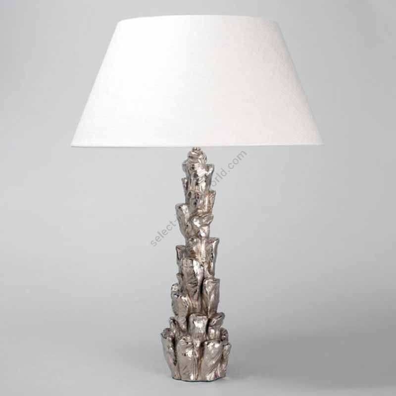 Finish: Nickel ; Lampshade: colour - Ivory , material - Linen
