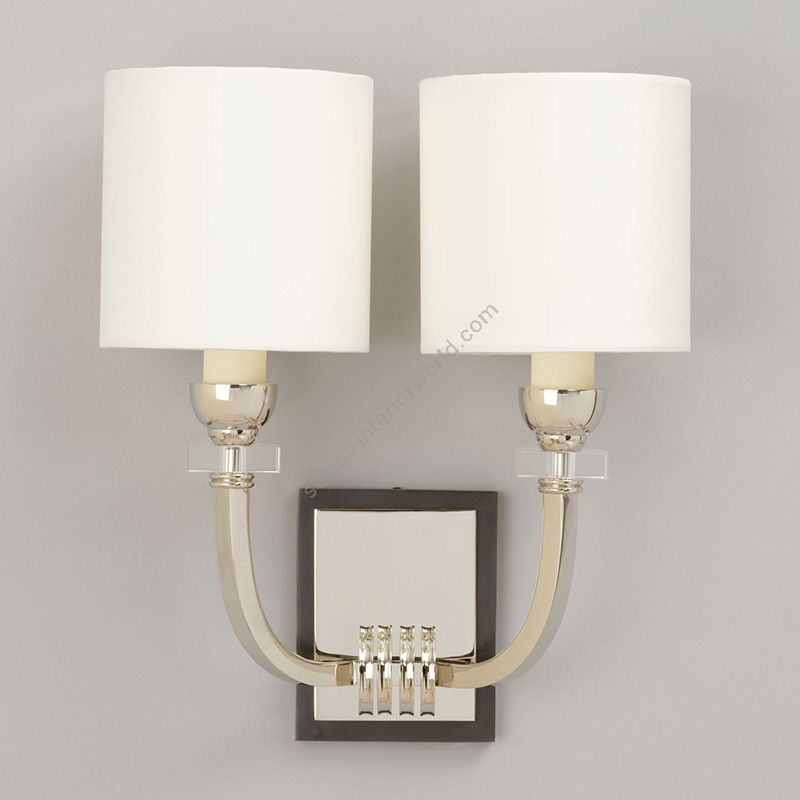 Nickel finish / Lily Linen lampshades