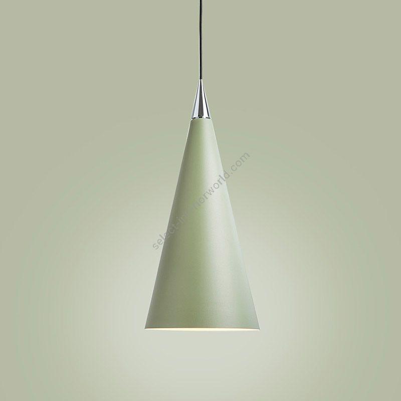 Suspension lamp / Sage green finish