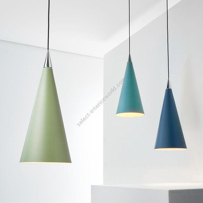 Suspension lamp, Sage green / Artic green / Ocean blue finish
