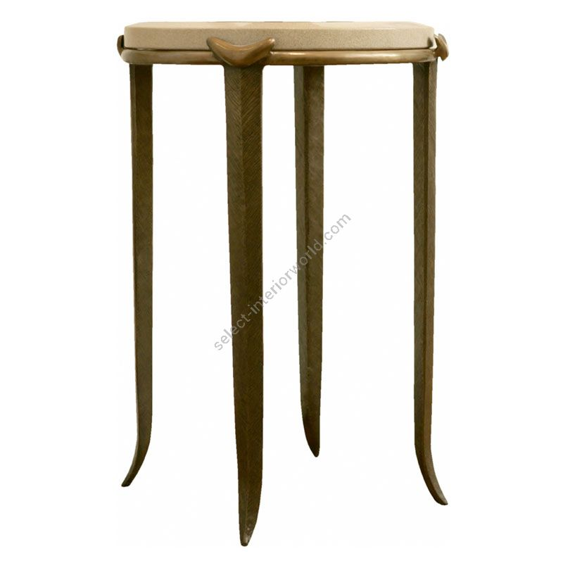 Corbin Bronze / Side Table / Chevron T0041