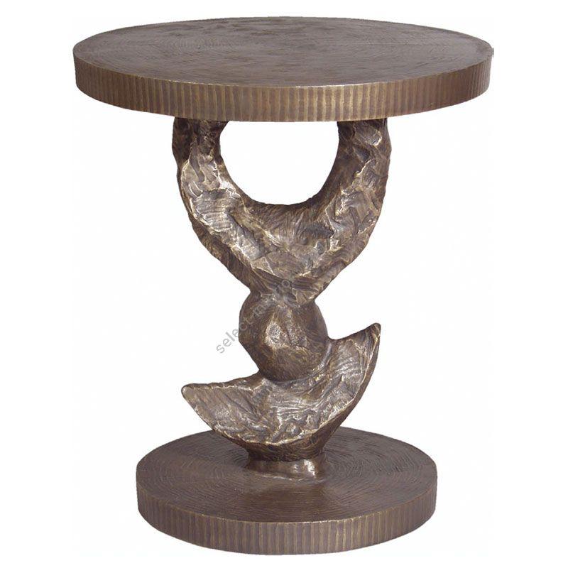 Corbin Bronze / Side table / Half Moon T2040