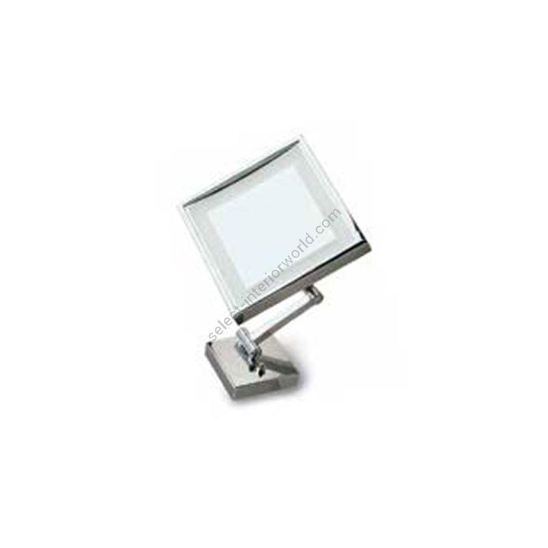 Estro / Square mirror with LED lighting / Tourquoise R709