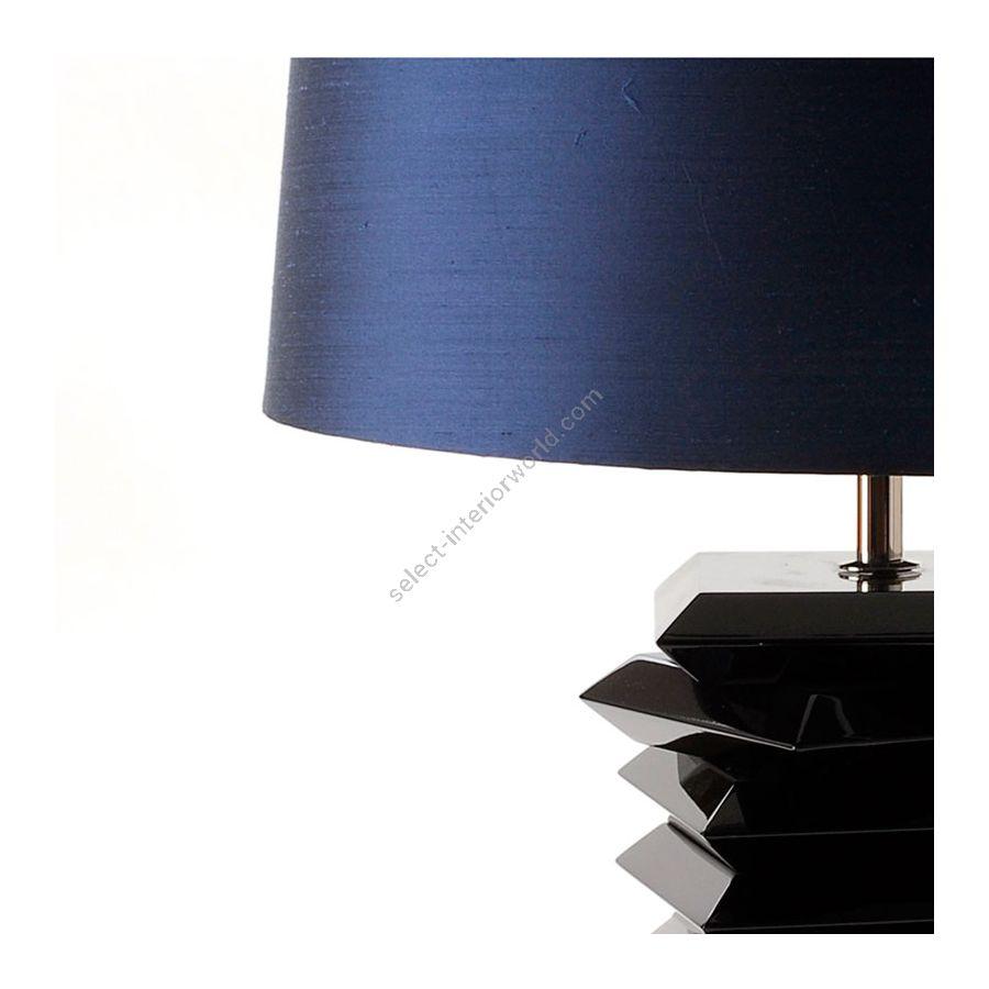 Shade: Midnight Blue Silk; Base: black lacquer