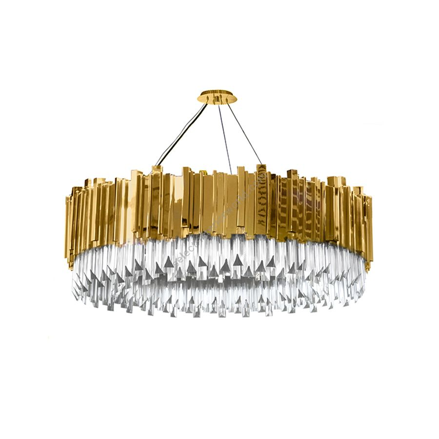 """Gold plated finish (cm.: 240 x 100 x 100 / inch.: 94.48"""" x 39.37"""" x 39.37"""")"""