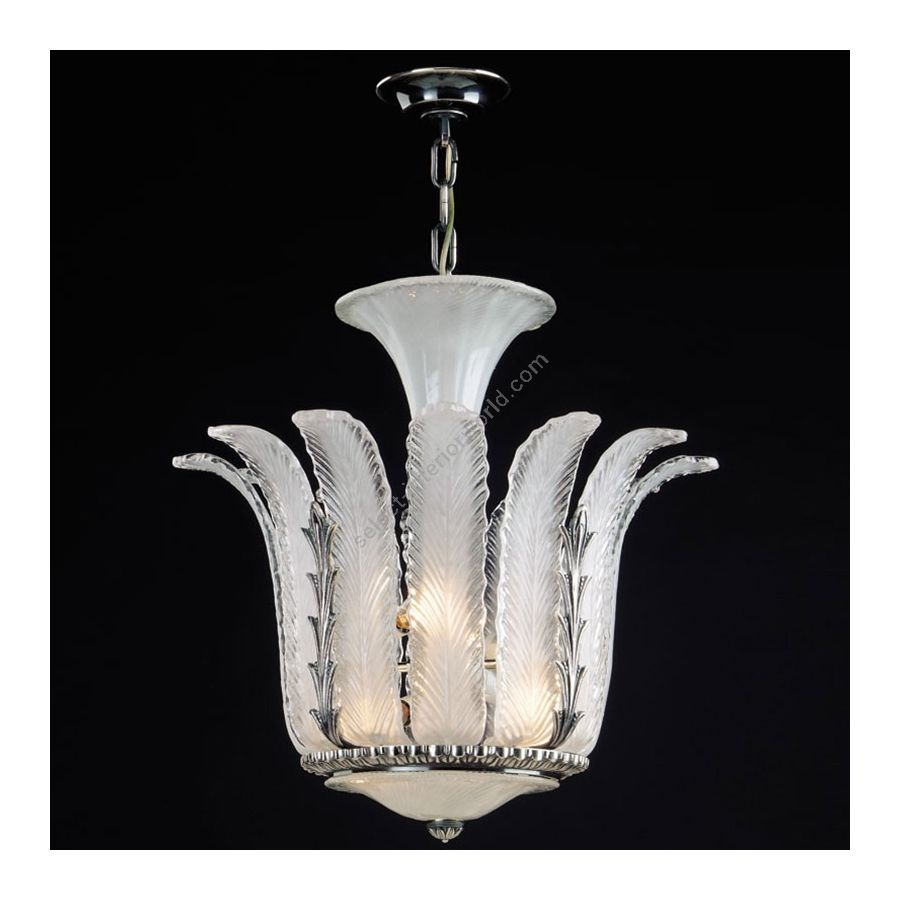 Antique Silver Plated finish / White Glass