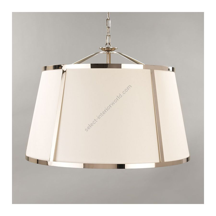 Nickel finish / Lily Linen Laminated lampshade