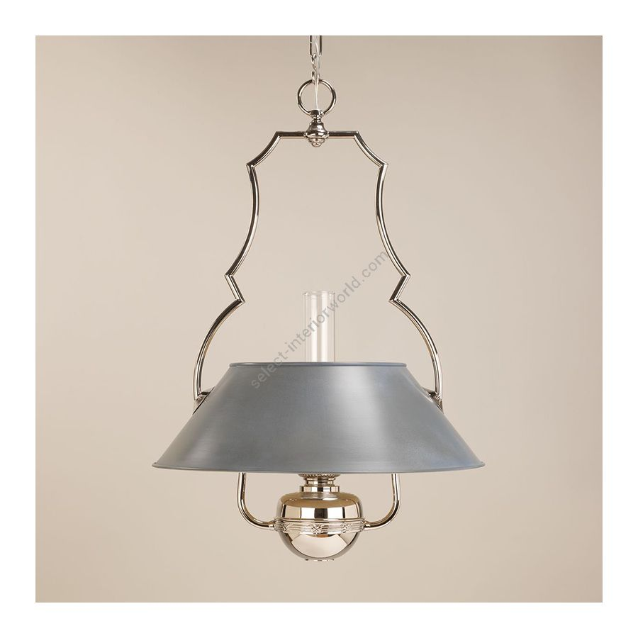 Hanging led lamp / Nickel finish / Zinc painted lampshade / Supply voltage: 100-120 or 220-230 Volts