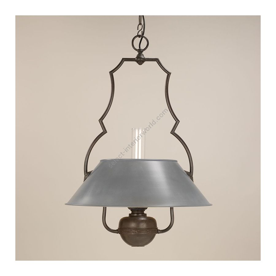 Hanging led lamp / Bronze finish / Zinc painted lampshade / Supply voltage: 100-120 Volts