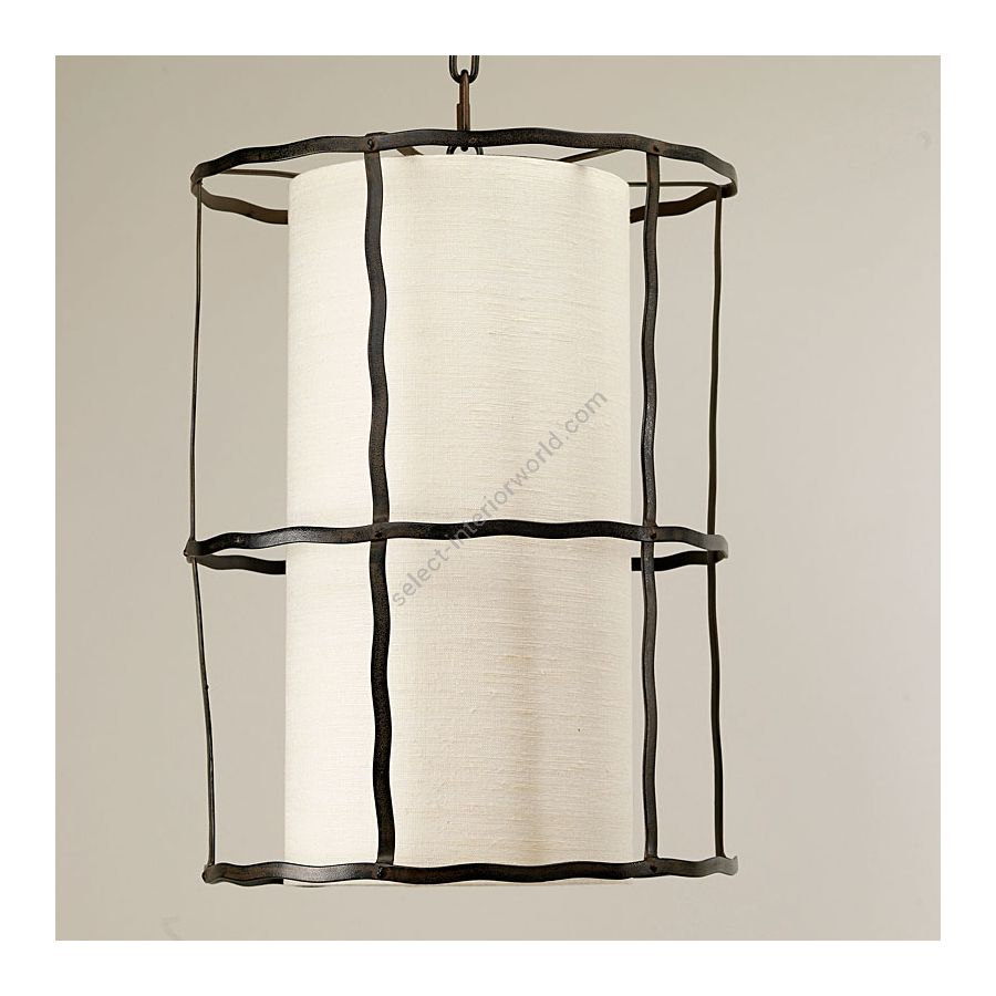 Ivory Linen Laminated lampshade