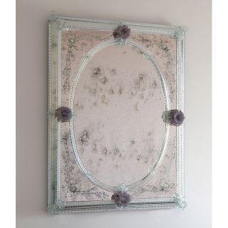 Glass & Glass Murano / Murano wall mirror / ART. MIR 240